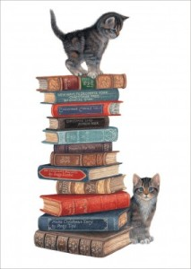 Well Read Kittens from Crown Point Greeting Cards