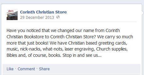 Christian bookstore name