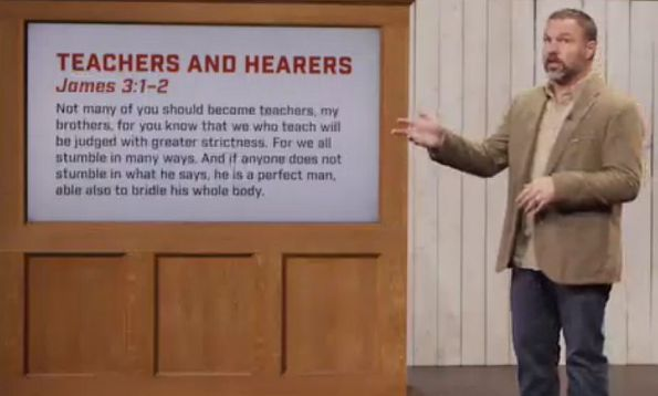 The Man and the Sermon Text: Irony?