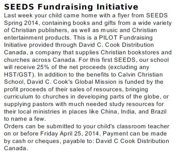 Seeds Fundraising David C. Cook