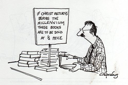 prophecy book sale cartoon