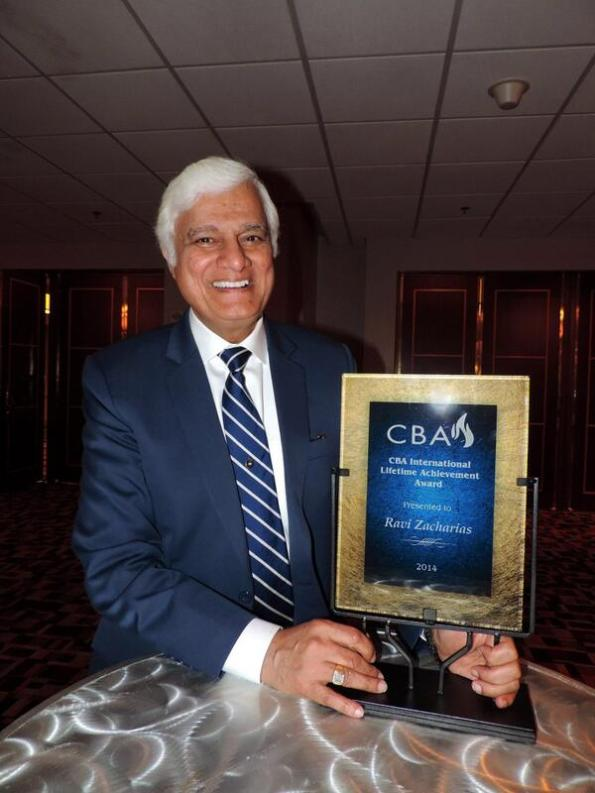 Ravi Zacharias Lifetime Acheivement Award Christian Booksellers Association