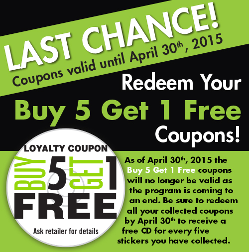 Coupon program end