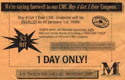 Bonus Coupon CMC 2