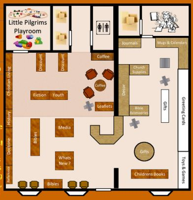 Christian bookstore floor plan