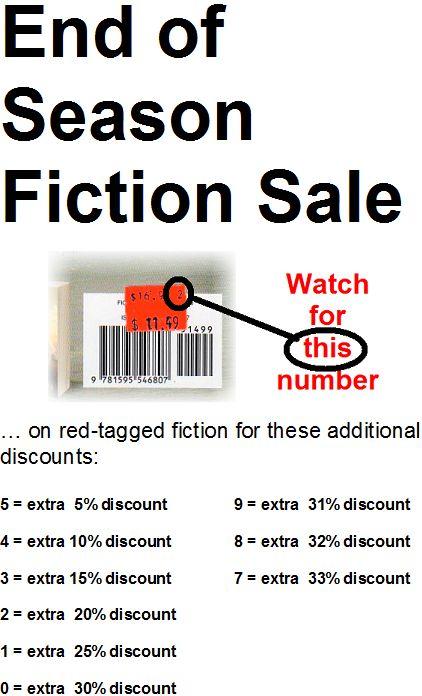 End of Season Fiction Sale
